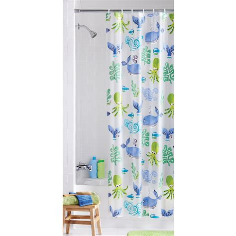 plastic shower mainstays neptune peva vinyl shower curtain walmart