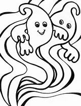 Coloring Ghost Weird sketch template