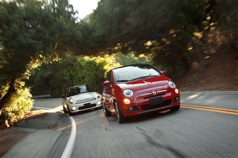 Mini Vs Fiat 500 by 2012 Fiat 500 Vs 2011 Mini Cooper Comparison Test