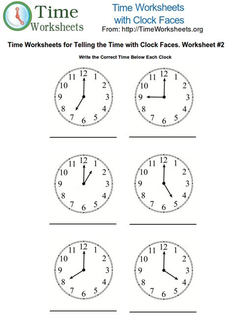 time math worksheets with clock faces 2 time worksheets org