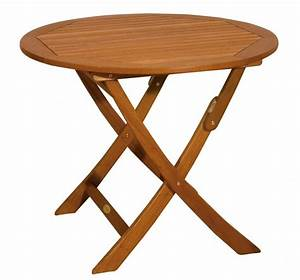 Tisch Rund 90 Cm : gartentisch klapptisch stockholm rund 90 cm aus fsc eukalyptus ~ Indierocktalk.com Haus und Dekorationen