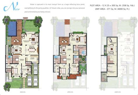 designing house plans contemporary villa floor plans with vipul tatvam villas gurgaon residential projects in sector