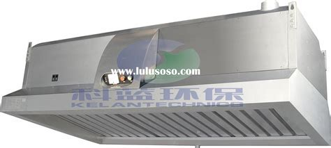 Commercial Kitchen Range Exhaust Hood with Electrostatic