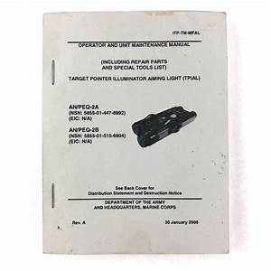 Used Usgi An  Peq-2 Technical Manuals For Sale