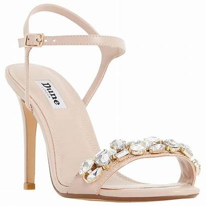 Sandals Heel Embellished Jewel Dune Mya Blush