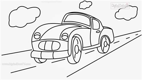 draw cartoon car step  step   draw