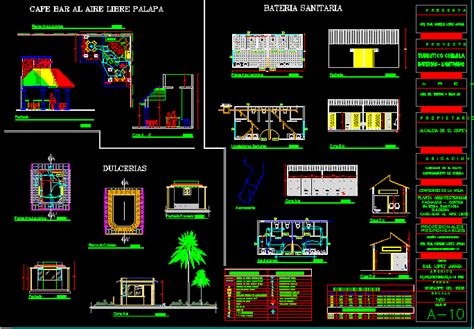 coffee shop  dwg design plan  autocad designscad