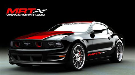 customized ford mustangs   displayed  sema