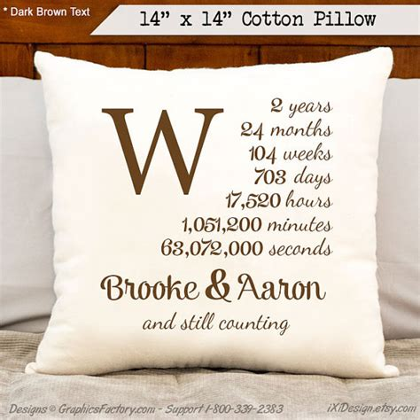 2nd anniversary gift 2nd anniversary cotton gift personalized anniversary by ixidesign