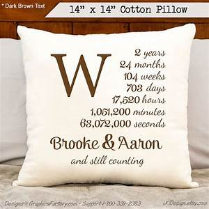 2nd anniversary cotton gift personalized anniversary by With 2nd year wedding anniversary gifts