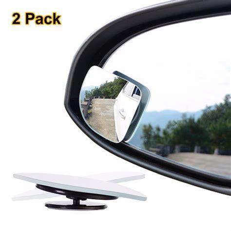 Rear View Mirror Blind Spot by 2pcs Lot Adjustable Frameless Hd Glass Car Blind Spot