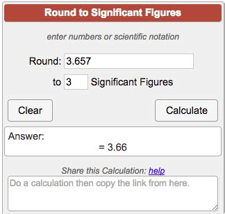Rounding Significant Figures Calculator