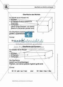 Volumen Berechnen übungen 6 Klasse : k rper oberfl che und volumen von w rfel und quader ~ Themetempest.com Abrechnung