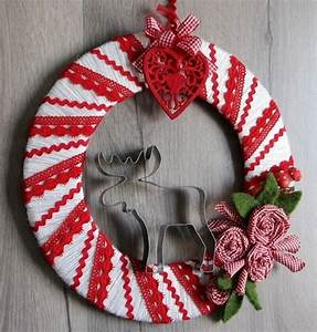 Faire Une Couronne De Noel : tutoriel faire une couronne de no l avec de la laine et du ~ Preciouscoupons.com Idées de Décoration
