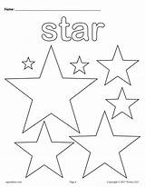 Star Coloring Worksheets Pages Cutting Tracing Shapes Shape Printable Worksheet Multiple Dot sketch template
