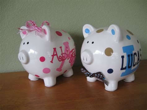 Personalized Ceramic Piggy Bank By Deladesign