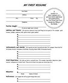 college student resume exles first job ms sepp 39 s counselor corner my first resume