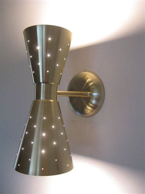 mid century modern lighting vintage wall sconce ideas mid century modern double cone shaped