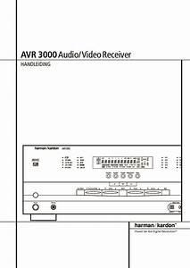 Harman Kardon Avr 3000  Serv Man5  User Guide    Operation