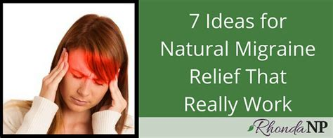 7 Ideas for Natural Migraine Relief That Really Work ...