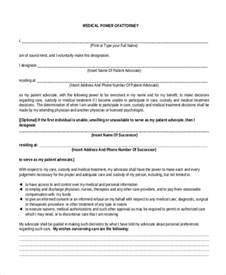 Temporary Medical Power of Attorney Form