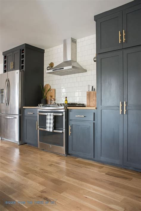 kitchen renovation  dark cabinets  open shelving
