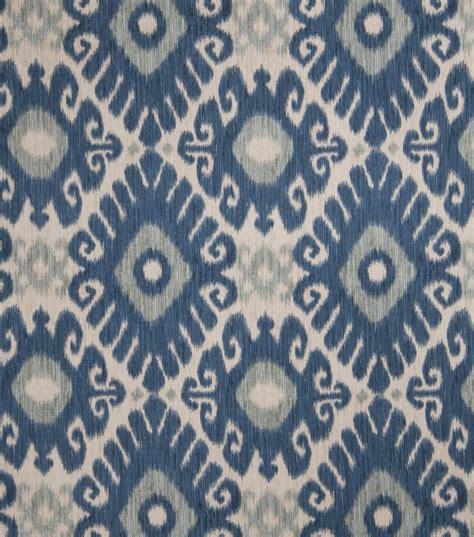 Upholstery Fabrics by Home Decor Print Fabric Smith Ikat Rot Indigo Jo