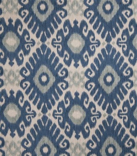 Home Decor Print Fabric Jaclyn Smith Ikat Rot Indigo Joann