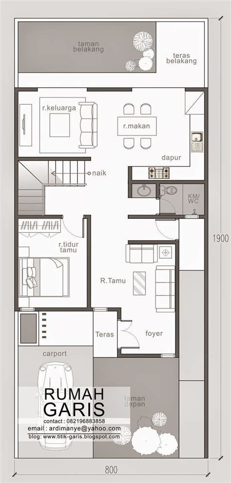 House Plans For A Narrow Lot by Two Story Narrow Lot House Plan Eplans