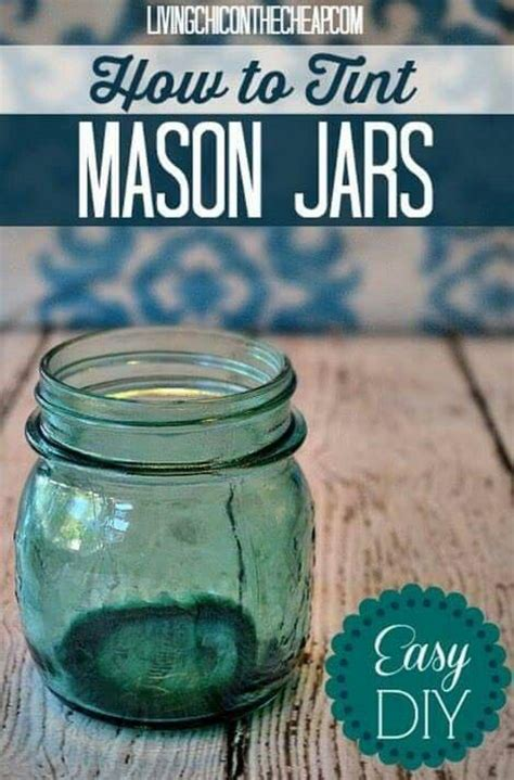 tinted mason jars mason jar stuff pinterest jars