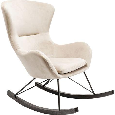 chaise à bascule allaitement bílé houpací křeslo ušák kare design oslo bonami