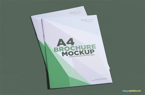 A Collection Of Free Psd Brochure Mockups Creative Free A4 Brochure Mockup Psds
