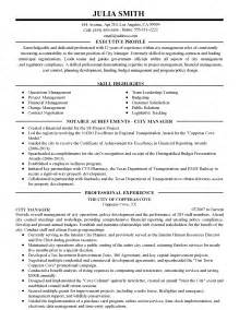 City Manager Resume by Executive Resume For Andrea M Gardner Page 1 My