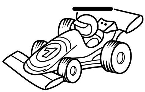 race car drawing clipart