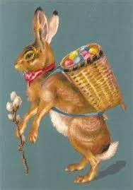 Carte Lapin de Pâques - Catho Rétro
