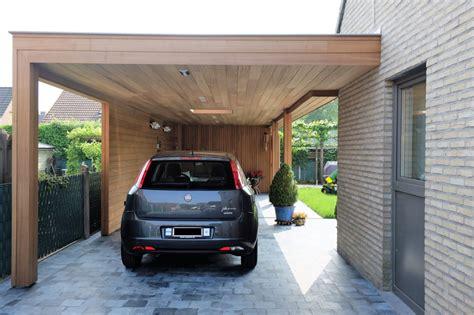 Moderne Carport Met Loungeruimte En Tuinberging (ref Vg