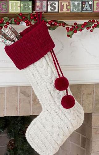 twenty five days of christmas minu stocking on a rope from crackabsral ravelry cable knit pattern by protus