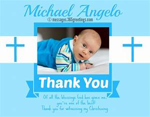 christening thank you messages 365greetingscom With thank you letter for baptism