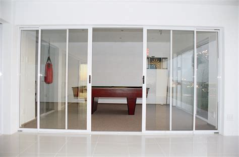 4 panel sliding glass patio doors