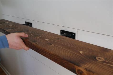 Hardwood Wall Shelves by Easy Diy Floating Shelf With Brackets Angela Made
