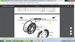 Ford Tractor 600 800 Parts Manual