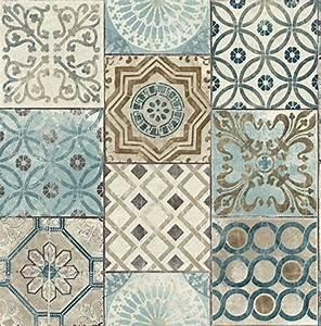 nextwall nextwall moroccan style peel and stick mosaic With balkon teppich mit retro tapete amazon