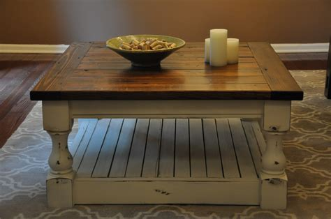 A friend sent me a picture of a coffee table from a really expensive furniture company. Rustic Farmhouse Coffee Table