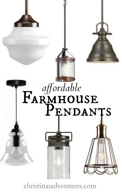 affordable kitchen design elements farmhouse pendant