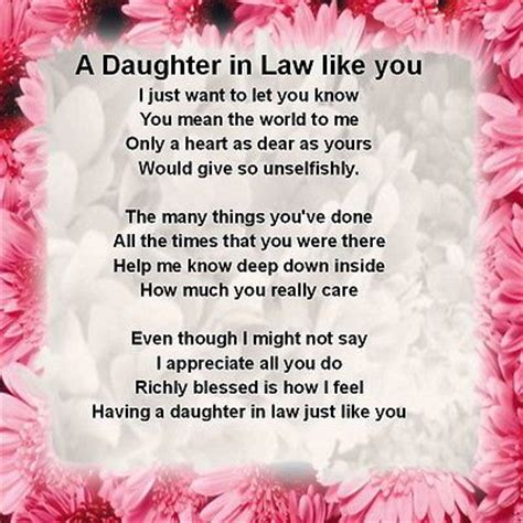 personalised coaster daughter  law poem pink floral