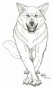 snarling wolf by wolfspirit395 on DeviantArt