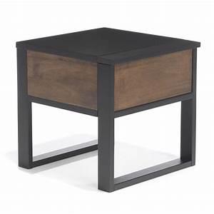 Table De Chevet Wengé : table de chevet 1 tiroir noyer dor et weng spirit ~ Teatrodelosmanantiales.com Idées de Décoration