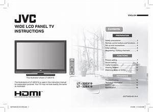 Jvc Flat Panel Television Lt 32bx19 Users Manual 32ex19 Tv