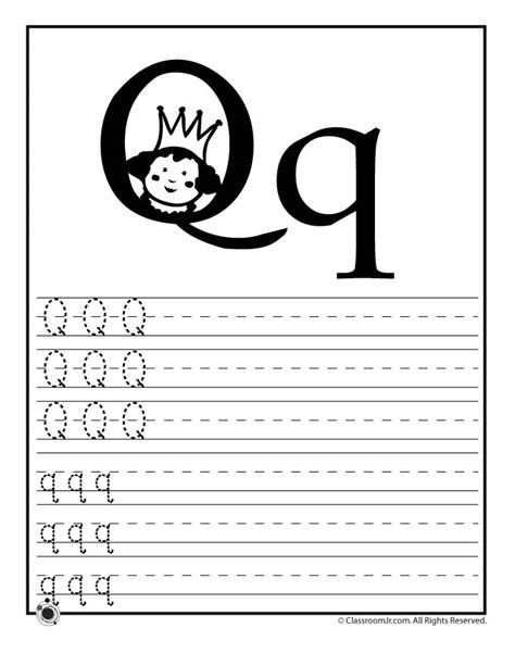 learn letter q woo jr activities