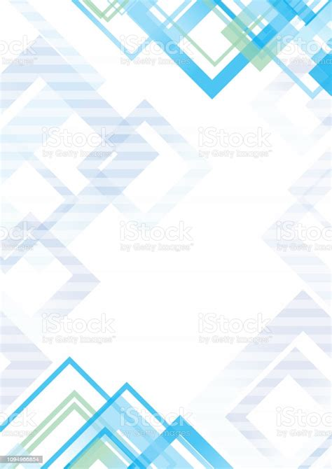 Abstract Geometric Background Pattern Template Design Blue